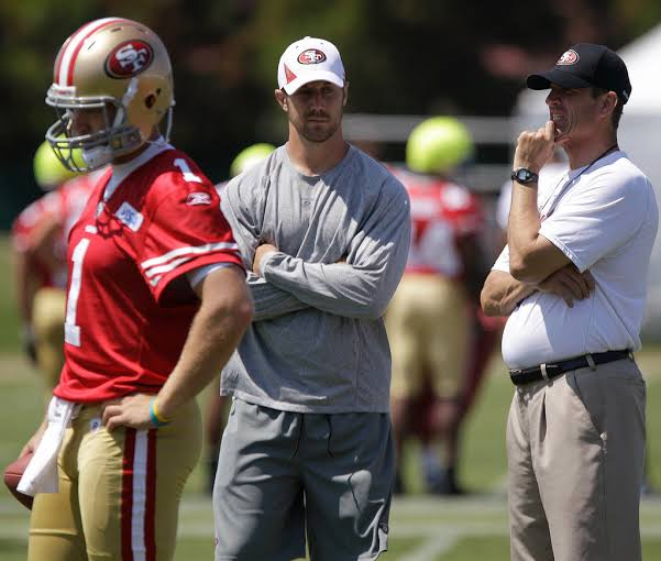 """Image result for 49ers Center Jonathan Goodwin Is Happy For Alex Smith"""""""