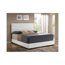 white queen bed frame size faux leather