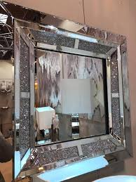 sparkle diamond wall mirror mirrored