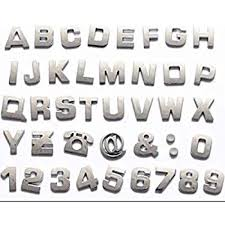 Amazon Com Personalized Set Of Chrome Auto Letters And Numbers Cloud Style Automotive