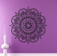 Mandala Wall Vinyl Decal India Henna Flower Vinyl Sticker Abstract Home Decor 4 Ebay