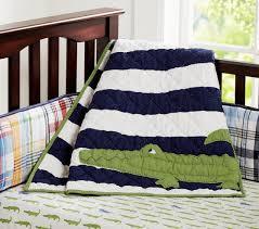 alligator madras crib bedding set