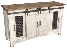 70 eliza white barn door tv stand