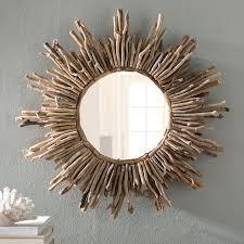 sunburst traditional accent mirror