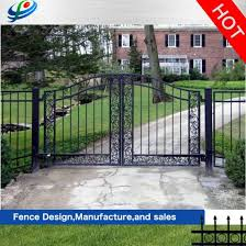 China Automatic House Collapsible Fence Fencing Sliding Metal Security Aluminum Sliding Wrought Iron Door Iron Grill Design China Fence Gate And Fence Panel Price