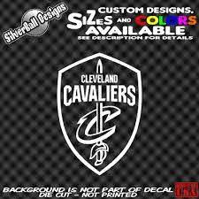 Cavs Shield Custom Vinyl Decal Car Window Sticker Cle Cleveland Cavaliers Nba Ebay