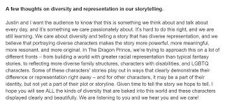 """aaron ehasz on Twitter: """"Our team is overwhelmed and grateful for the  response from our audience so far! Justin and I did want to share a few  thoughts on diversity in our"""