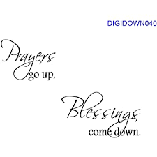 Amazon Com Valuevinylart Prayers Go Up Blessings Come Down Religious Wall Decal Black 36 X16 Home Kitchen