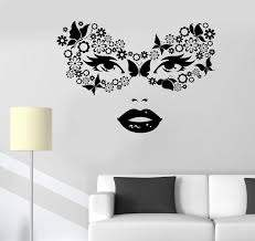 Vinyl Wall Decal Masquerade Carnival Mask Woman Beauty Stickers Unique Wallstickers4you