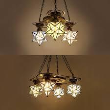 foyer hallway star shade chandelier