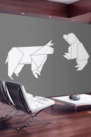 Bull Bear Origami Wall Decals Walltat Com Art Without Boundaries