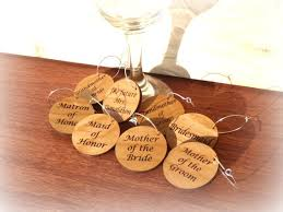 bridal shower wine glass charms wedding