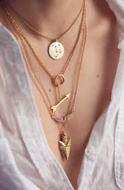 gold gold necklace gold chain arrow