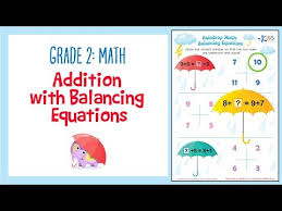 addition worksheet balancing equations