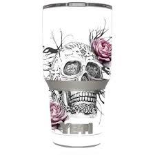 Skin Decal Vinyl Wrap For Yeti 30 Oz Rambler Tumbler Cup 6 Piece Kit Stickers Skins Cover Roses In Skull Walmart Com Walmart Com