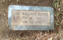 Ida Wallace Boyet (1903-1996) - Find A Grave Memorial