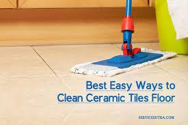 clean ceramic tiles floor