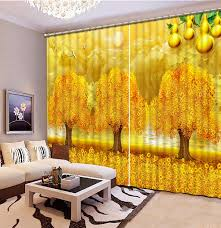Photo Printing 3d Curtains Jade Landscape Sheer Curtains For Kids Bedroom Children Room Curtains Yellow Curtain Drapes Curtains For Sheer Curtainscurtains For Kids Aliexpress