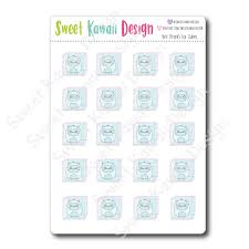 Kawaii Yeti Ice Cube Stickers Sweet Kawaii Design