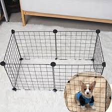 6pcs Run Cage Enclosure Foldable Rabbit Black Puppy Iron Diy Dog Pet Fence Shopee Philippines