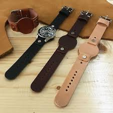 cow leather cuff watch strap band