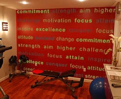Exercise Room Wall Decal Trading Phrases