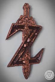 Zelda Wood Carved Sword Wall Art Dna Dimension Designs