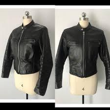 70s vanson black leather motorcycle