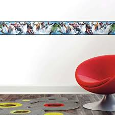 Roommates Avengers Peel And Stick Wallpaper Border Removable Kids Room Decor Amazon Com