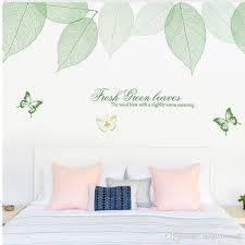 Fresh Green Leaves Butterfly Wall Decals Living Room Bedroom Wall Mural Poster Art Extra Large Wall Applique Decorative Stickers Wall Decals Canada Wall Decals Cheap From Magicforwall 19 08 Dhgate Com