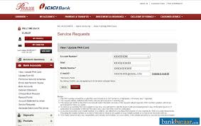 link pan card to icici bank account