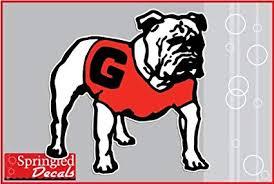 Amazon Com Georgia Bulldogs Dog Mascot 3 4 Vinyl Decal Uga Car Truck Sticker Sports Outdoors