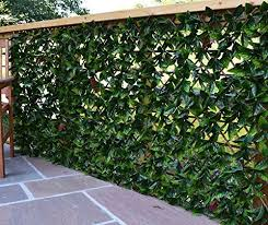 Extreme Instant Hedging Artificial Screening Fencing Realistic With Summer Time Leaves 2m X 1m Can Be Extended West Derby Carpets