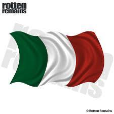 Italy Waving Flag Decal Italian Italia Car Window Vinyl Sticker Rh Rotten Remains High Quality Stickers Decals