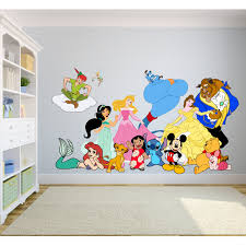 Disney Cartoon Show Characters Princess Decors Wall Sticker Art Design Decal For Girls Boys Kids Room Bedroom Nursery Kindergarten House Fun Home Decor Stickers Wall Art Vinyl Decoration 12x20 Inch Walmart Com