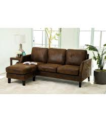 claire leather reversible sectional and