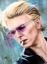 David Bowie Original Painting by Adrian Hill | Pomfret Gallery