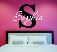 Amazon Com Girls Custom Name And Initial Wall Decal Sticker 28 W By 21 H Girls Name Wall Decals Wall Decor Personalized Girls Decor Girls Nursery Girls Bedroom Plus Free White Hello Door
