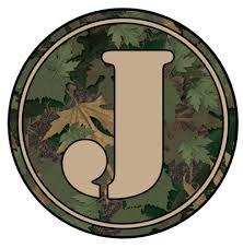 Letter J Camo Monogram Tumbler Decal Tumbler Decals Advanced Graphics Inc