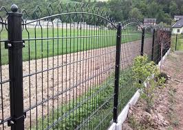 656 868 Double Wire Mesh Fence Wire Fence Gate Round Post 50mm