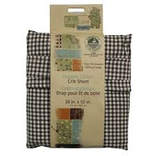 1pc brown checd crib fitted sheet