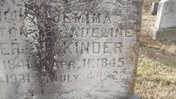 Jemima Adeline Thompson Kinder (1845-1922) - Find A Grave Memorial