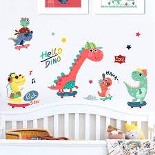 Big Sale 726cd 9 Styles Dinosaur Kids Room Decoration Wall Sticker Cartoon Animal Girl Boy Bed Room Decor Aesthetic Wallpaper Wallstickers Art Cicig Co