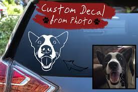 Custom Dog Decal Dog Car Decal Laptop Vinyl Decal Dog Etsy