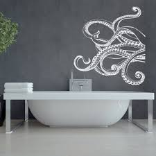 Large Kraken Octopus Tentacles Vinyl Wall Decal Nautical Wall Etsy Octopus Bathroom Nautical Wall Decal Nautical Wall