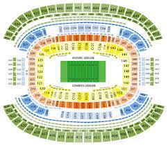 at t stadium seating chart football game