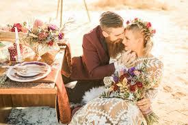 in desert wedding styled shoot
