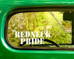 2 Redneck Pride Decals Stickers The Sticker And Decal Mafia