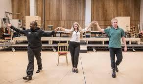 Lucian Msamati, Fleur de Bray and Adam Gillen in rehearsal…   Flickr