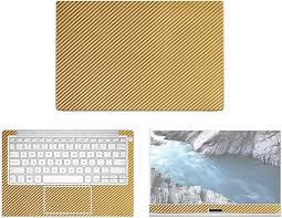 Amazon Com Decalrus Protective Decal For Dell Xps 13 9370 13 3 Screen Laptop Gold Carbon Fiber Skin Case Cover Wrap Cfdellxps13 9370gold Electronics